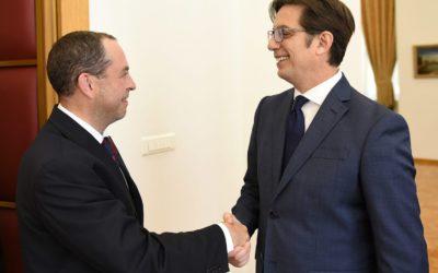 Претседателот Пендаровски го прими амбасадорот на Република Бугарија, Ангел Ангелов