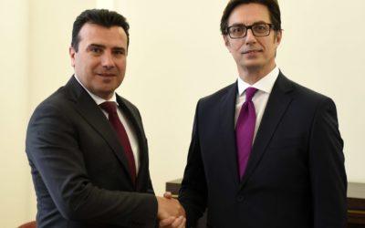 Средба на претседателот Пендаровски со претседателот на Владата Заев