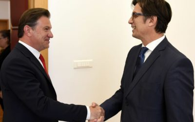 President Pendarovski receives the Minister without Portfolio in charge of communications, accountability and transparency, Robert Popovski