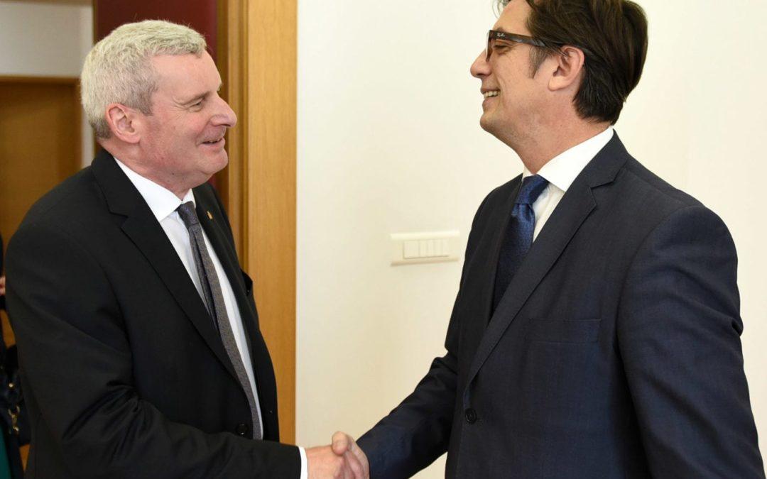 Претседателот Пендаровски го прими германскиот амбасадор Томас Норберт Герберих
