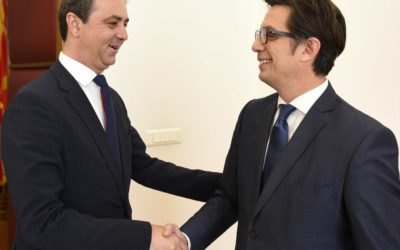 President Pendarovski receives the President of the Bosniak Democratic Union, Munir Kolasinac
