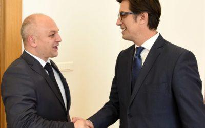 President Pendarovski receives the President of the Democratic Party of Turks of Macedonia, Beycan Ilyas