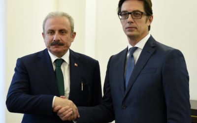 President Pendarovski receives the President of the Grand National Assembly of the Republic of Turkey, Mustafa Sentop