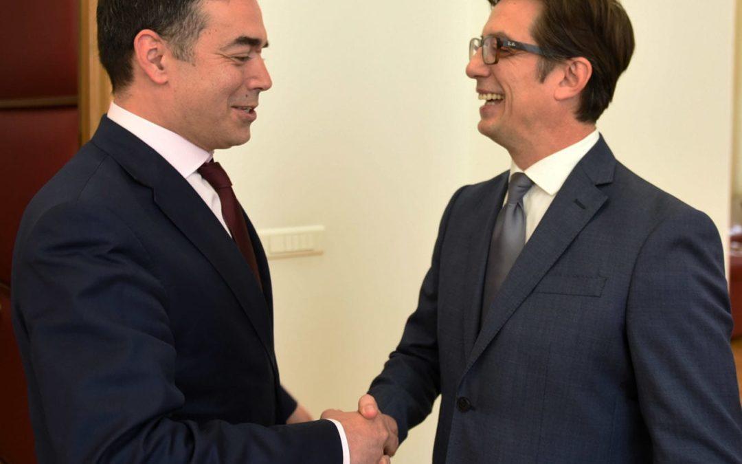 Претседателот Пендаровски го прими министерот за надворешни работи, Димитров