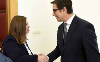 Претседателот Пендаровски ја прими австралиската амбасадорка Рут Карис Стјуарт