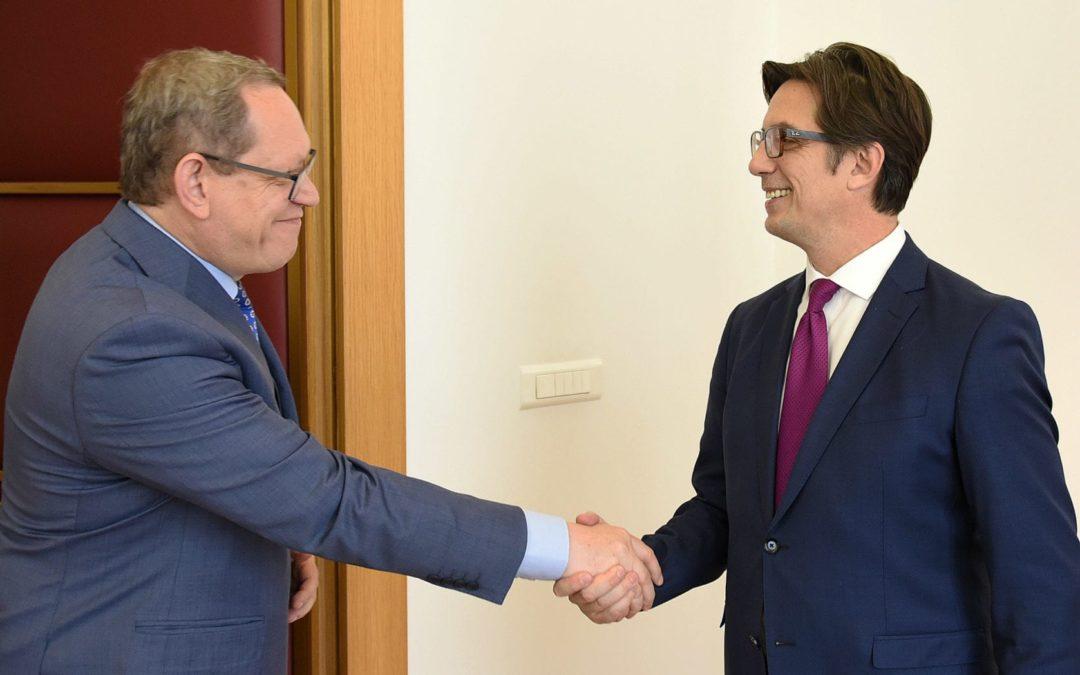 Претседателот Пендаровски го прими амбасадорот на Република Полска, Војциех Тицињски