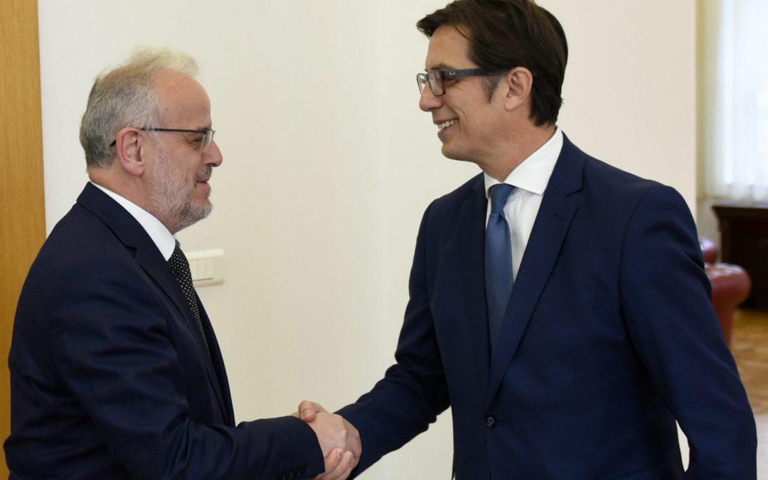 Средба на претседателот Пендаровски со претседателот на Собранието, Џафери