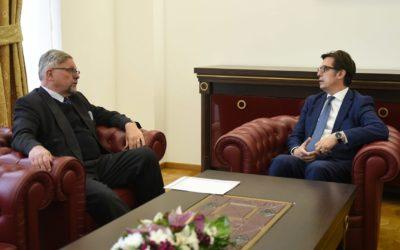 Средба на претседателот Пендаровски со шведскиот амбасадор Стафансон