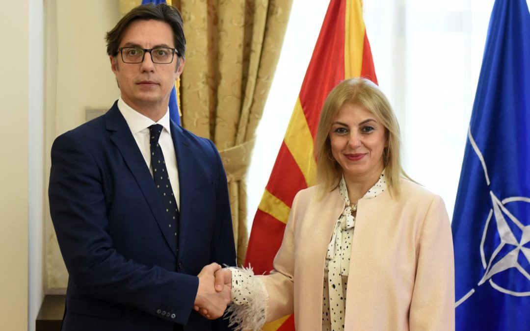 Presidenti Pendarovski priti në takim ambasadoren e Republikës së Turqisë, Tulin Erkal Kara