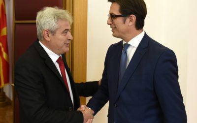 Средба на претседателот Пендаровски со претседателот на ДУИ, Ахмети