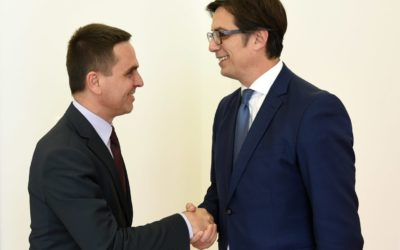 President Pendarovski meets with the President of the Movement Besa, Kasami