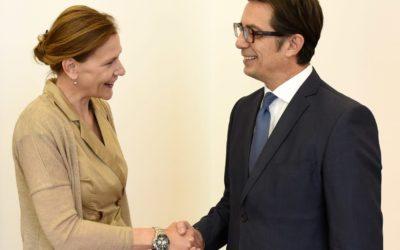 Средба на претседателот Пендаровски со хрватската амбасадорка Баришиќ
