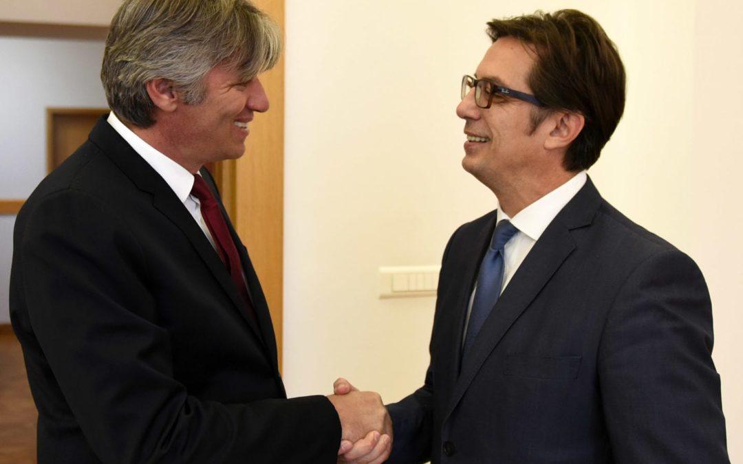 Средба на претседателот Пендаровски со претседателот на Алијанса за Албанците, Зијадин Села