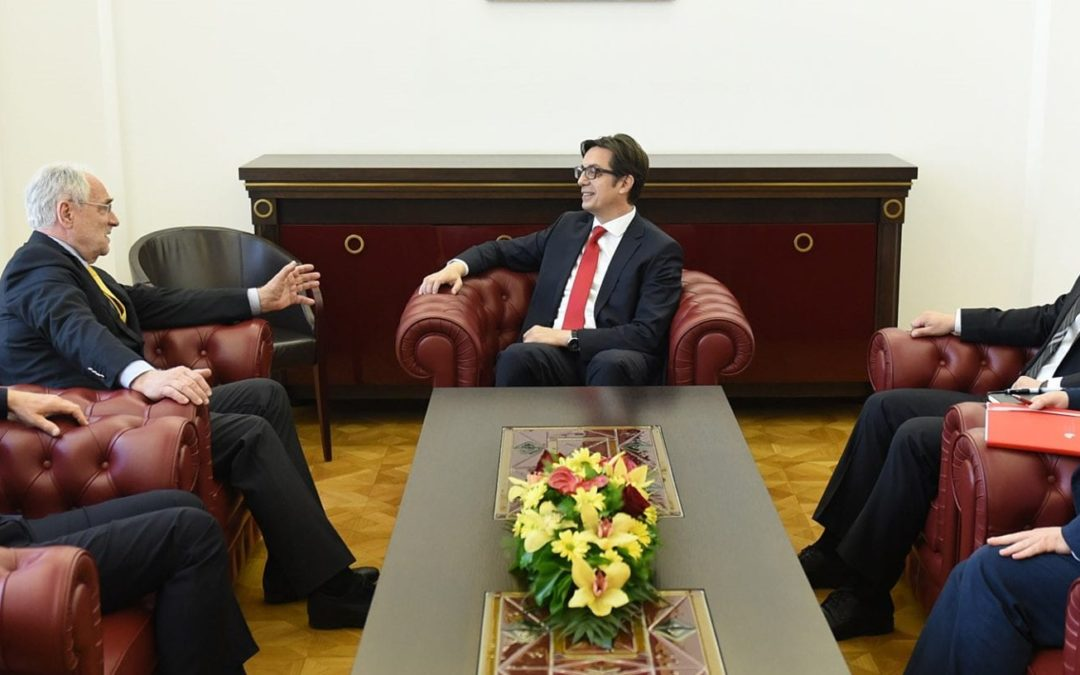 Претседателот Пендаровски го прими пратеникот во Европскиот парламент, Иво Вајгл