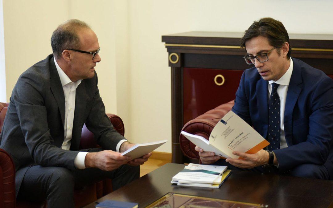 Претседателот Пендаровски го прими претседателот на Здружението на судиите, Џемали Саити