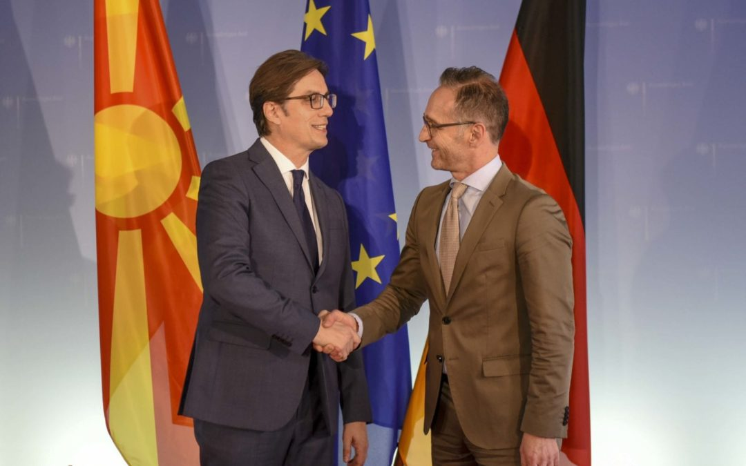 Takim Pendarovski – Maas: Konfirmohet mbështetja e fuqishme nga Gjermania për integrimin evropian të Republikës së Maqedonisë së Veriut