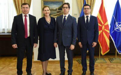 Претседателот на Република Северна Македонија, Стево Пендаровски, прими делегација од Хрватскиот сабор, предводена од Домагој Милошевиќ, претседател на Комитетот за европски работи