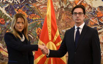 Претседателот Пендаровски ги прими акредитивните писма на новоименуваната амбасадорка на Црна Гора, Марија Петровиќ