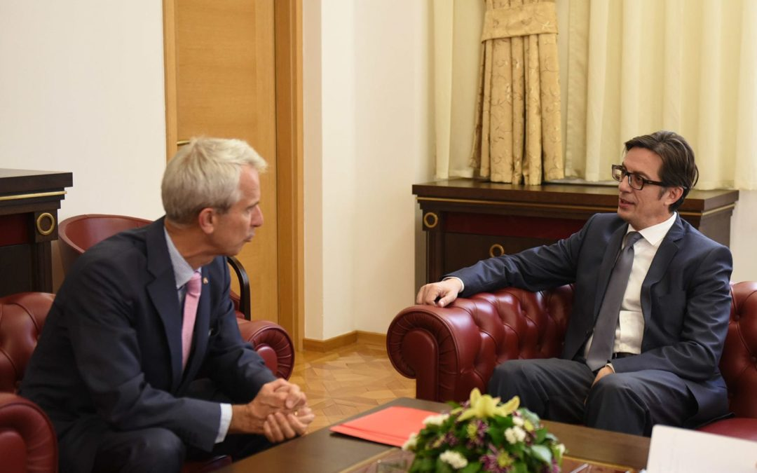 President Pendarovski meets with the Ambassadors of Japan and the Netherlands