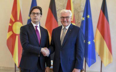 Takimi i Presidentit Pendarovski me Presidentin gjerman Steinmeier
