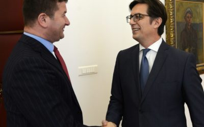 President Pendarovski meets the Director of the Agency for Implementation of Languages Sela