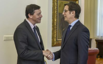 President Pendarovski receives the Ambassador of the State of Israel, Dan Oryan