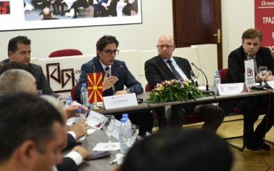 Takim pune i Presidentit Pendarovski në Odën Ekonomike të Maqedonisë