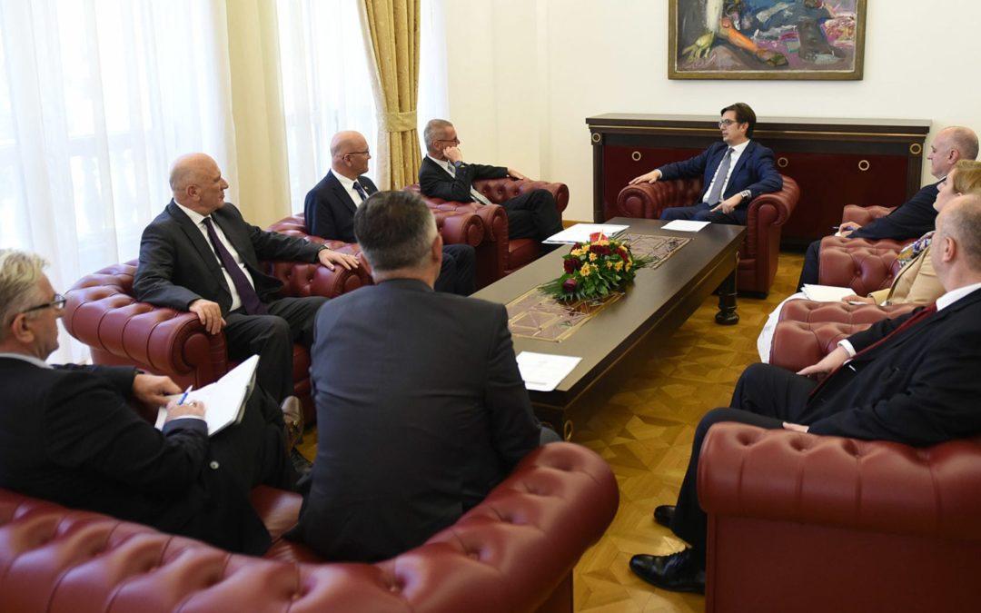 Претседателот Пендаровски го прими помошникот-генерален секретар на НАТО, Антонио Мисироли