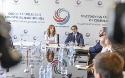 Посета на претседателот Пендаровски на Сојузот на стопански комори на Македонија