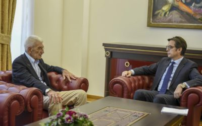 President Pendarovski meets the Mayor of Thessaloniki, Yiannis Boutaris