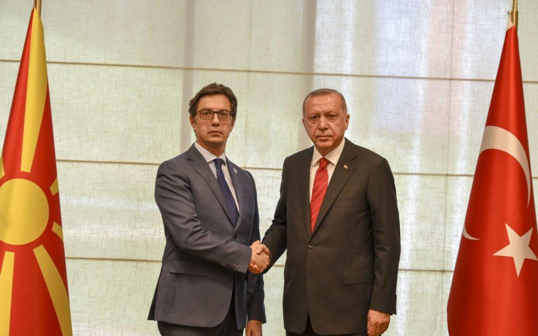 Средба на претседателот Пендаровски со турскиот претседател Ердоган во Сараево