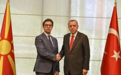 Takim e Presidentit Pendarovski me Presidentin turk Erdogan në Sarajevë