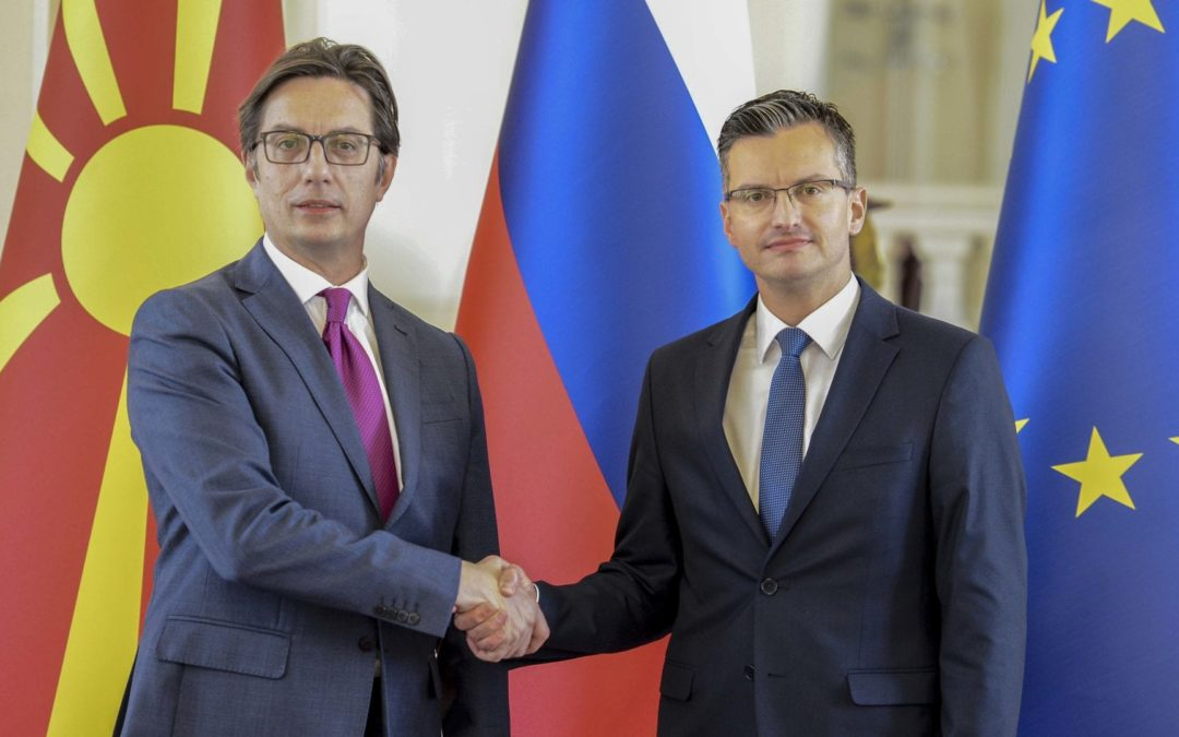 President Pendarovski meets the President of the Government of the Republic of Slovenia, Marjan Sharec