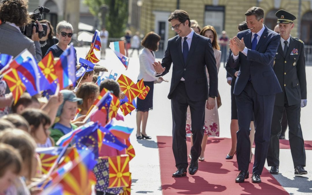 Official visit to the Republic of Slovenia, meeting of presidents Pendarovski and Pahor