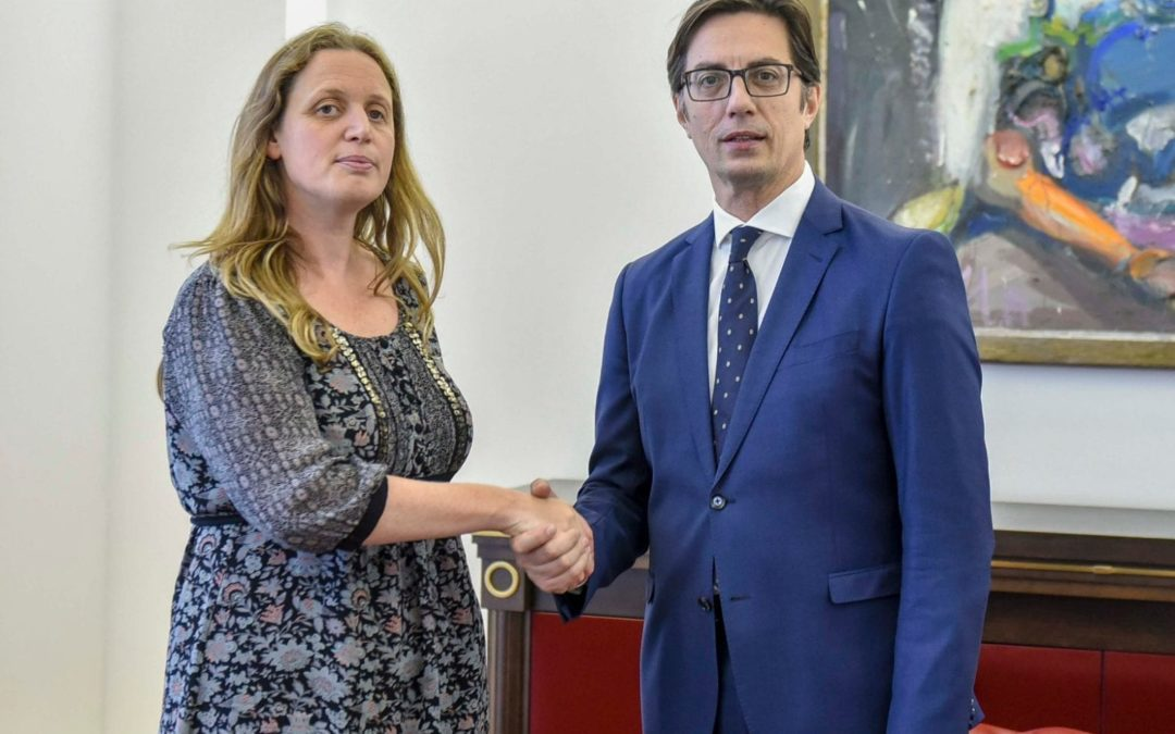 President Pendarovski receives the Ambassador of the United Kingdom of Great Britain and Northern Ireland, Rachel Galloway