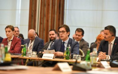 President Pendarovski addresses the Summit of the South-East European Cooperation Process in Sarajevo