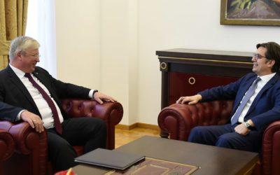 President Pendarovski meets with the Russian Ambassador Bazdnikin