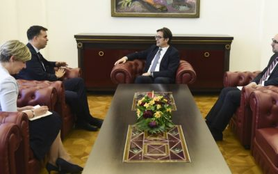 President Pendarovski receives the Hungarian Ambassador Dux