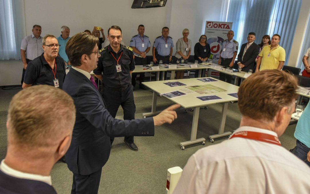 "President Pendarovski attends the protection and rescue exercise ""Joint Response 2019"""