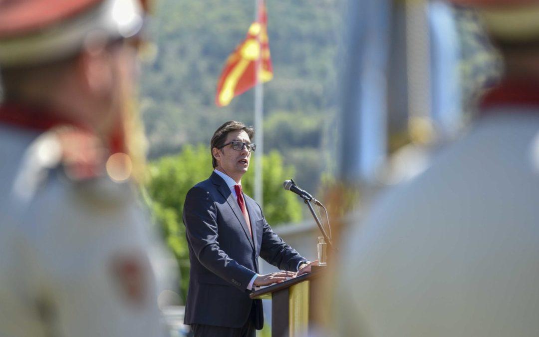 Addressing remarks President of the Republic of North Macedonia Mr Stevo Pendarovski 18 August – Army Day