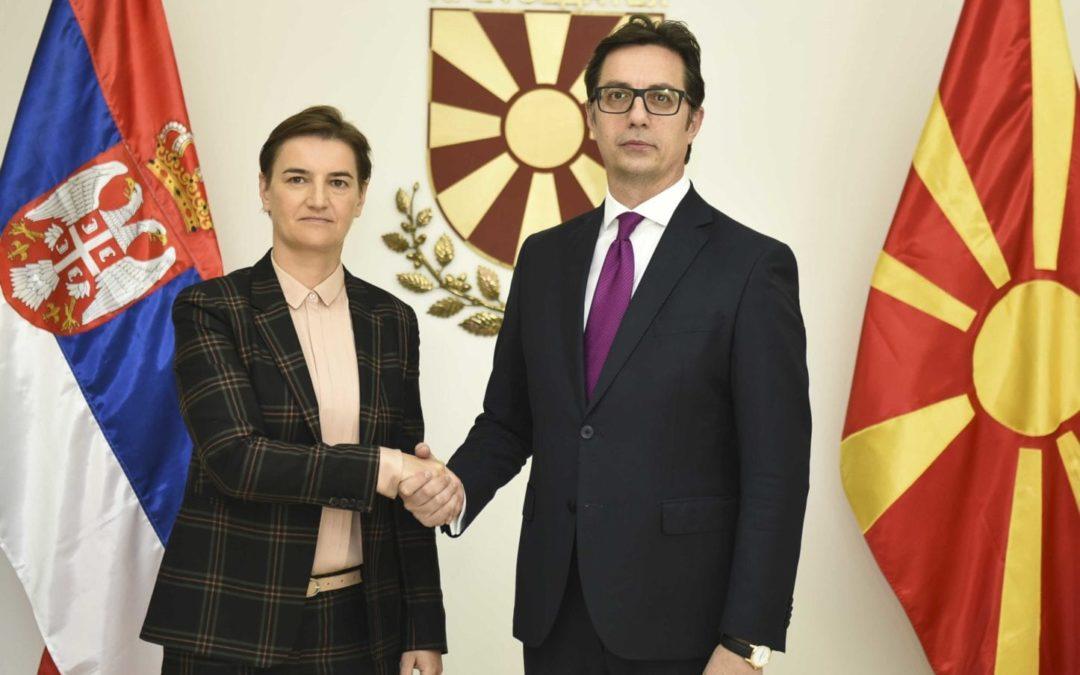 Средба на претседателот Стево Пендаровски со српската премиерка Ана Брнабиќ