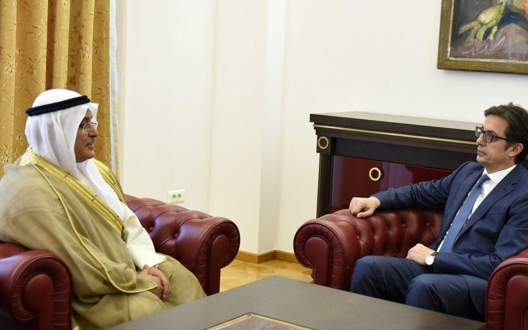 Средба на претседателот Пендаровски со Јакуб Ал-Атики, aмбасадор на Државата Кувајт