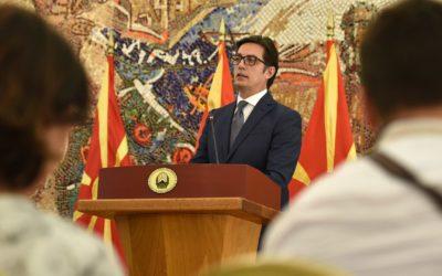 Konferenca për shtyp e Presidentit të Republikës së Maqedonisë së Veriut, Stevo Pendarovski