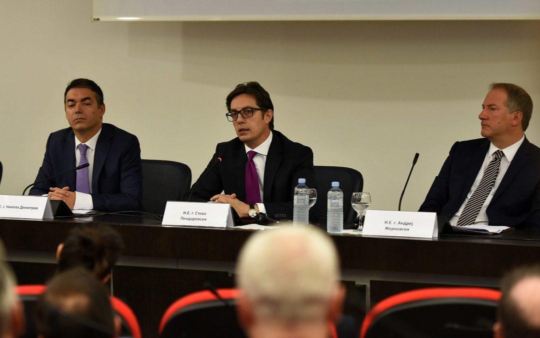 Обраќање на претседателот Пендаровски на Амбасадорскиот совет