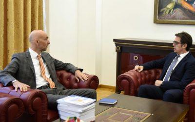 Средба на Претседателот Пендаровски со Јоханес Реи од фондацијата Конрад Аденауер