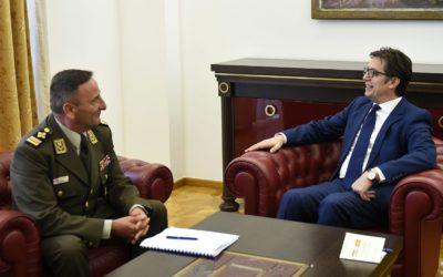 Претседателот Пендаровски прими висока делегација на вооружените сили (ВС) на Република Хрватска