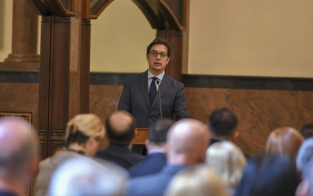 President Pendarovski addresses the Third Plenary Session of the National Convention on the European Union in the Republic of North Macedonia (NCEU-MK)
