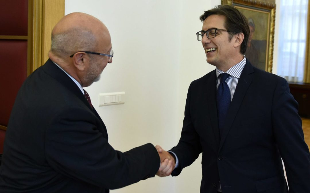 The President of the Republic of North Macedonia, Stevo Pendarovski, received today the OSCE High Commissioner for National Minorities, Lamberto Zannier.