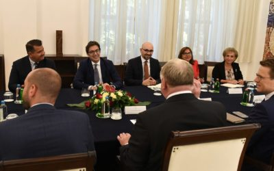 Meeting of President Pendarovski with Karl-Heinz Lambertz, President of the European Committee of the Regions