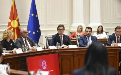 Обраќање на претседателот Пендаровски на конститутивниот состанок на Акциската група за координација на институциите на државата за борба против дезинформации и напади на демократијата